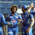 Pepsi IPL 2013 Match 58 – MI vs PWI Match 58 Highlights & Scorecard IPL Match 58 - Mumbai Indians Beat Pune Warriors India by 5 wickets Pepsi IPL Match 57 of  is played between Mumbai Indians and Pune Warriors India at Subrata Roy Sahara Stadium,...
