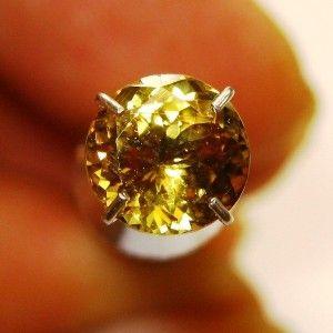 Tanzanit Kuning Round 1.20 carat