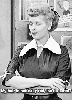 redhead i love lucy