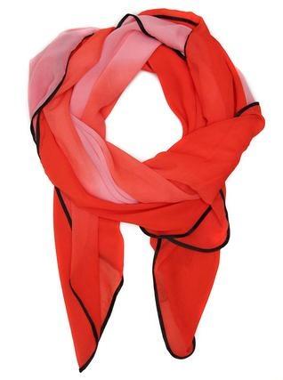 Růžový šátek s černým lemem INVUU 1