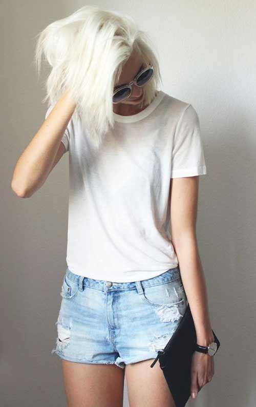 20 Best Short Bleached Blonde Hair   http://www.short-haircut.com/20-best-short-bleached-blonde-hair.html