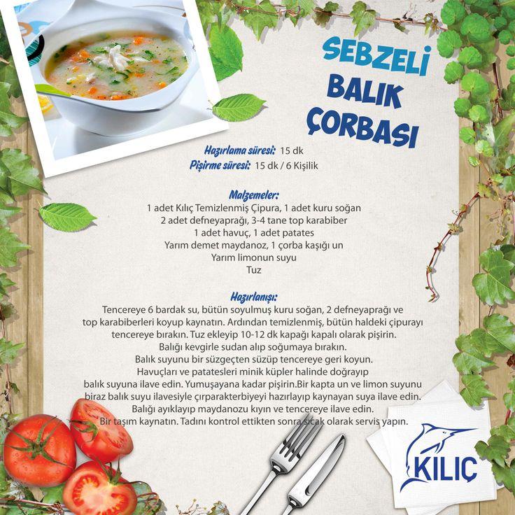 Sebzeli Balık Çorbası #KilicDeniz #yemek #tarif