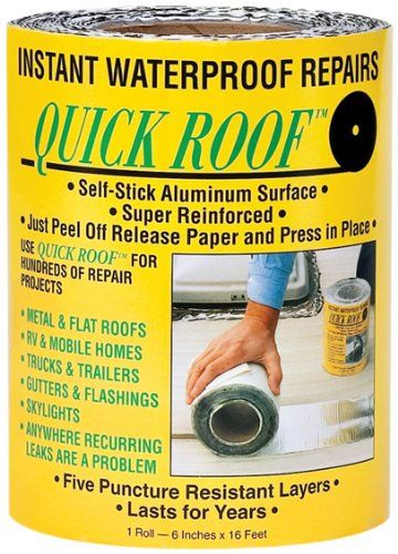 """(4 needed) Cofair Products QR625 6"""" X 25' Aluminium Quick Roof Tape Cofair http://smile.amazon.com/dp/B001N87K7O/ref=cm_sw_r_pi_dp_JS5Hub0FXEZPS (also available from Home Depot and Lowes as """"MFM Peel & Seal"""")"""