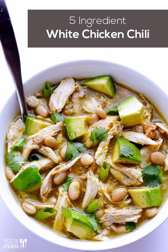 5-Ingredient Easy White Chicken Chili | 29 Super-Easy Avocado Recipes