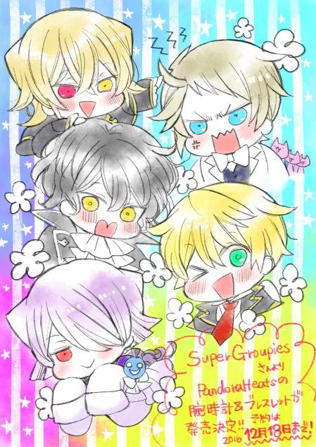 Everyone is cute! - Pandora Hearts chibis by Jun Mochizuki (the author)