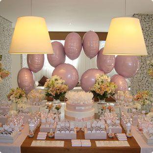 Decoração com Balões Metalizados usados na mesa do chá de bebê. #flexmetal #balao #balaodecoracao #balaopersonalizado #balaometalizado #balaodefesta #baloesmetalizados #baloespersonalizados #alegria #festa