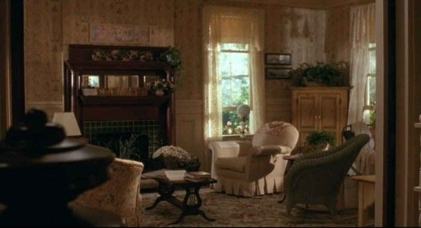 movie-living room with fireplace