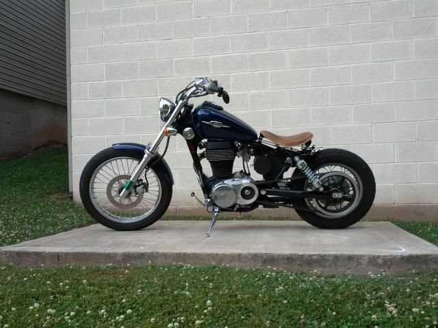 blue collar bobber kit suzuki savage. Black Bedroom Furniture Sets. Home Design Ideas