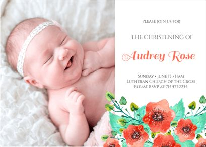 54 best printable baptism christening invitations images on royal garden printable invitation template customize add text and photos print download stopboris Gallery