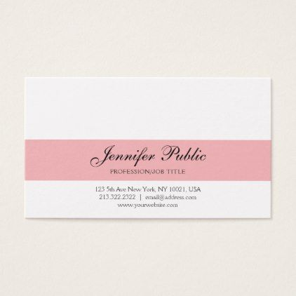Elegant Professional Creative Design Pink Modern Business Card - modern style idea design custom idea