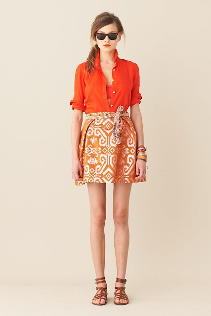 Orange outfit.: Summer Looks, Fashion Style, Fashion Models, Orange You Glad, J Crew, Looks Books, Cute Summer Outfits, Jcrew, Bright Colors