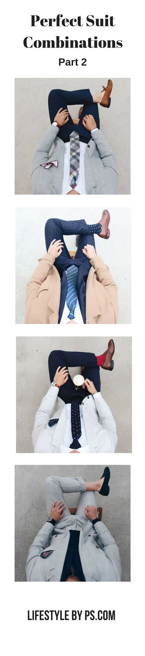 Perfect Suit Combinations For Men  #mens #fashion #style