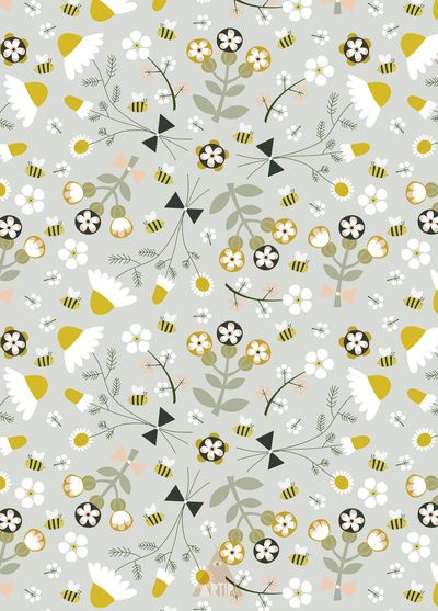 Chamomile floral pattern by Artipi