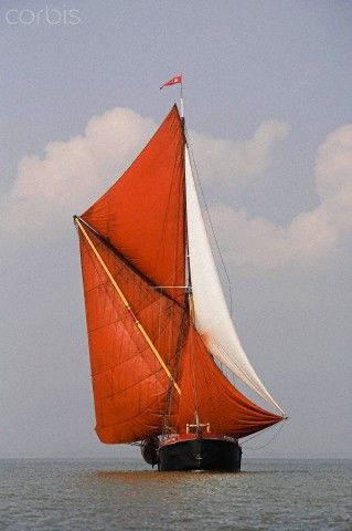 A Traditional Thames Sailing Barge on the River Medway