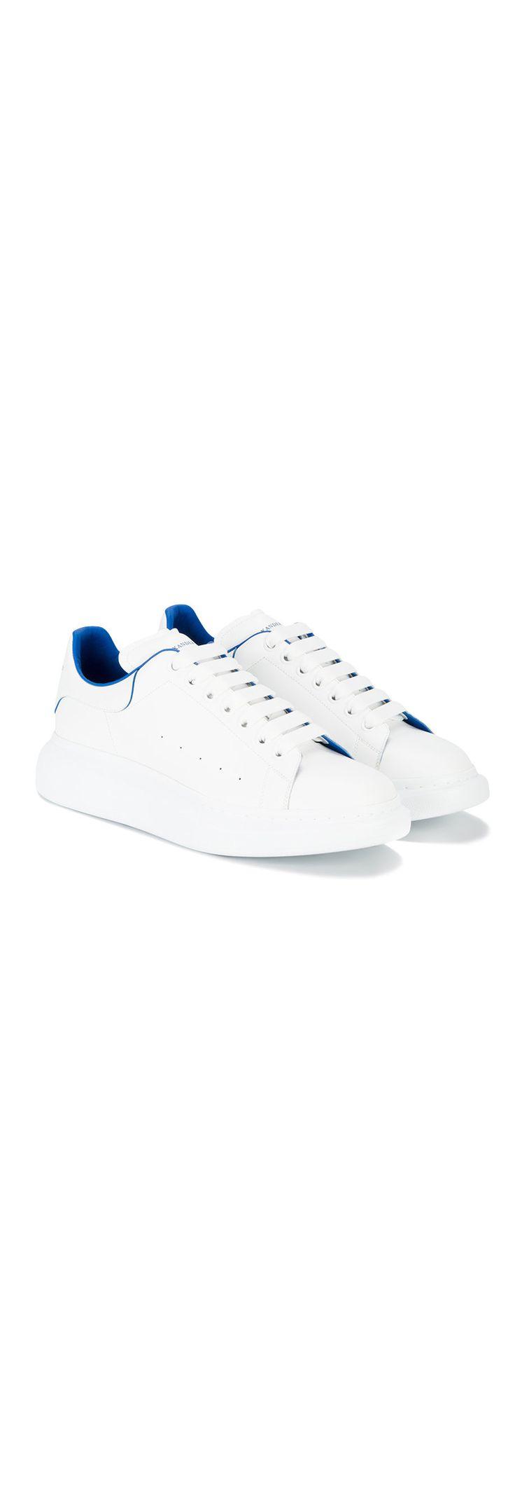 ALEXANDER MCQUEEN blue trim oversized sole sneakers, explore the latest new season sneakers on Farfetch.