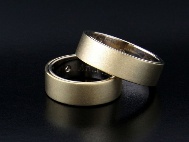 #Rings by #Bielak  yellow #gold/ white gold  #frozen  #unique #wedding rings with #fingerprints  Hand Made in #Poland