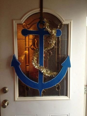 55 best images about navy stuff on pinterest navy mom for Anchor door decoration