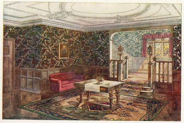 20th century wallpaper room design