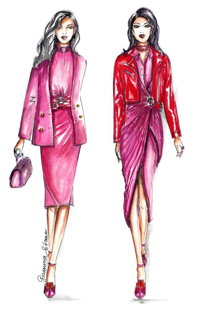 #fashionillustration #fashionsketch #digitalart #prada #sketch #bozzetto #fashiondraw #draw #illustration  Fashion| Tendenze moda: rosa shocking | http://www.theglampepper.com/2017/04/25/fashion-tendenze-moda-rosa-shocking/
