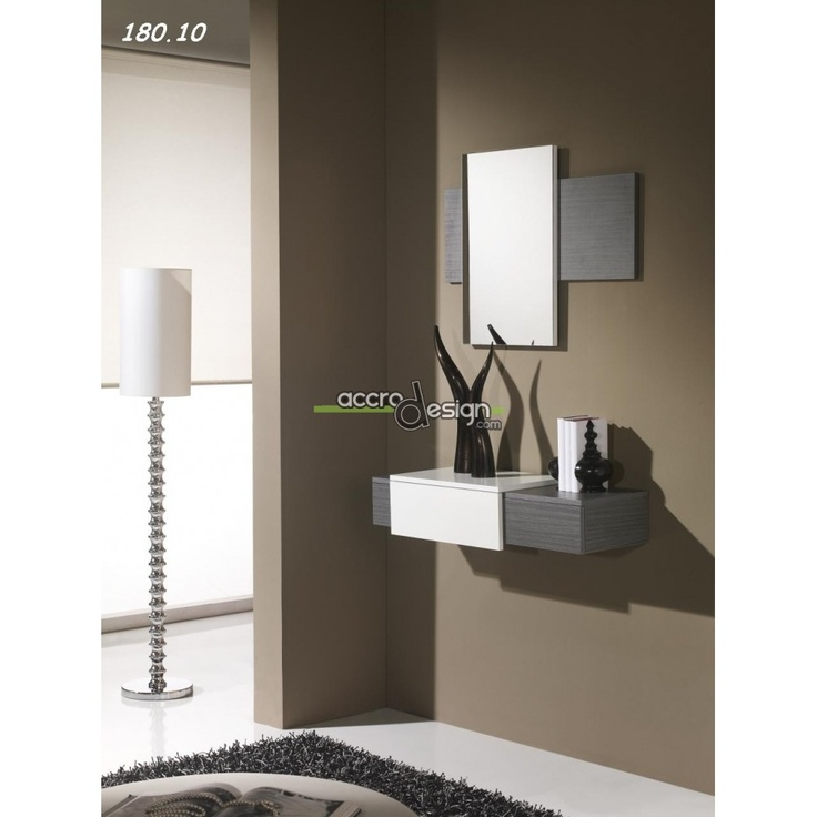 Console avec miroir firaco 08 meuble d 39 entr e for Decoration murale wayfair