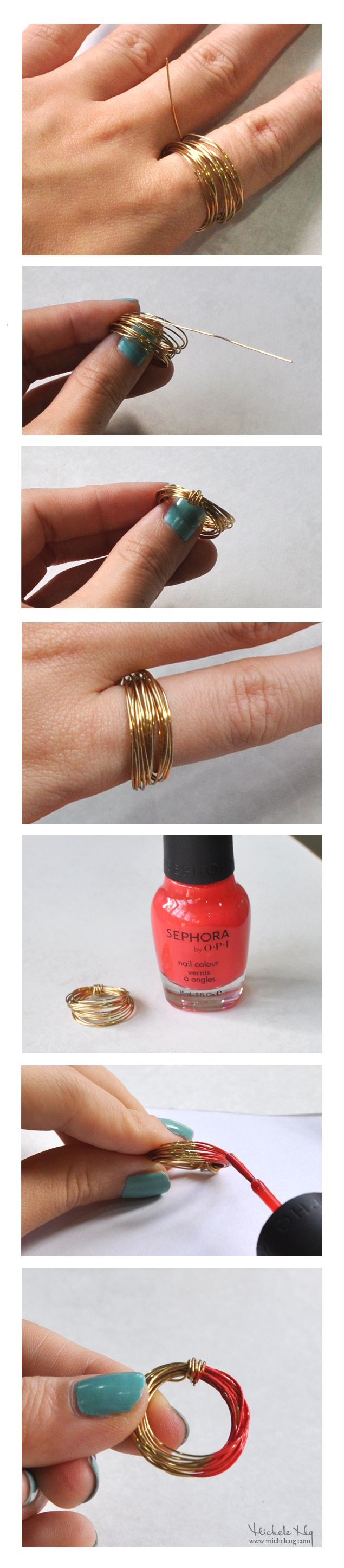 easy nail polish ring tutorial under five minutes