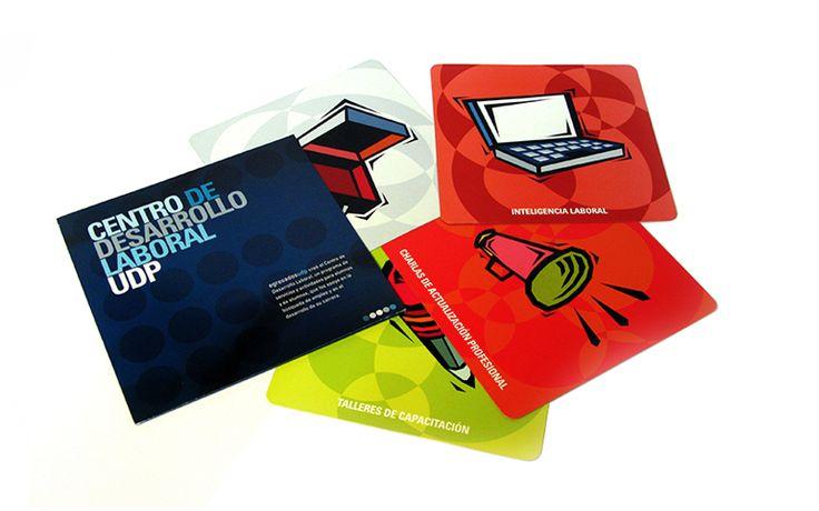 Diseño corporativo y marketing directo para centro de desarrollo laboral UDP