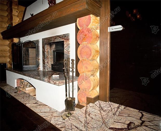 Устройство ниши для дров - Device niche for firewood