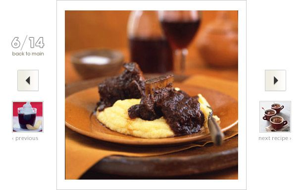 Short Ribs Braised in Coffee Ancho Chile Sauce Recipe: #Coffee's roasted flavor acts as the perfect mellowing agent—as well as medium—for infusing the short ribs with much-needed flavor from the chiles.