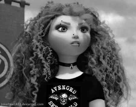 disney punk edit || Punk Merida awright (she's kind of a punk anyway, though) || sparklepunk