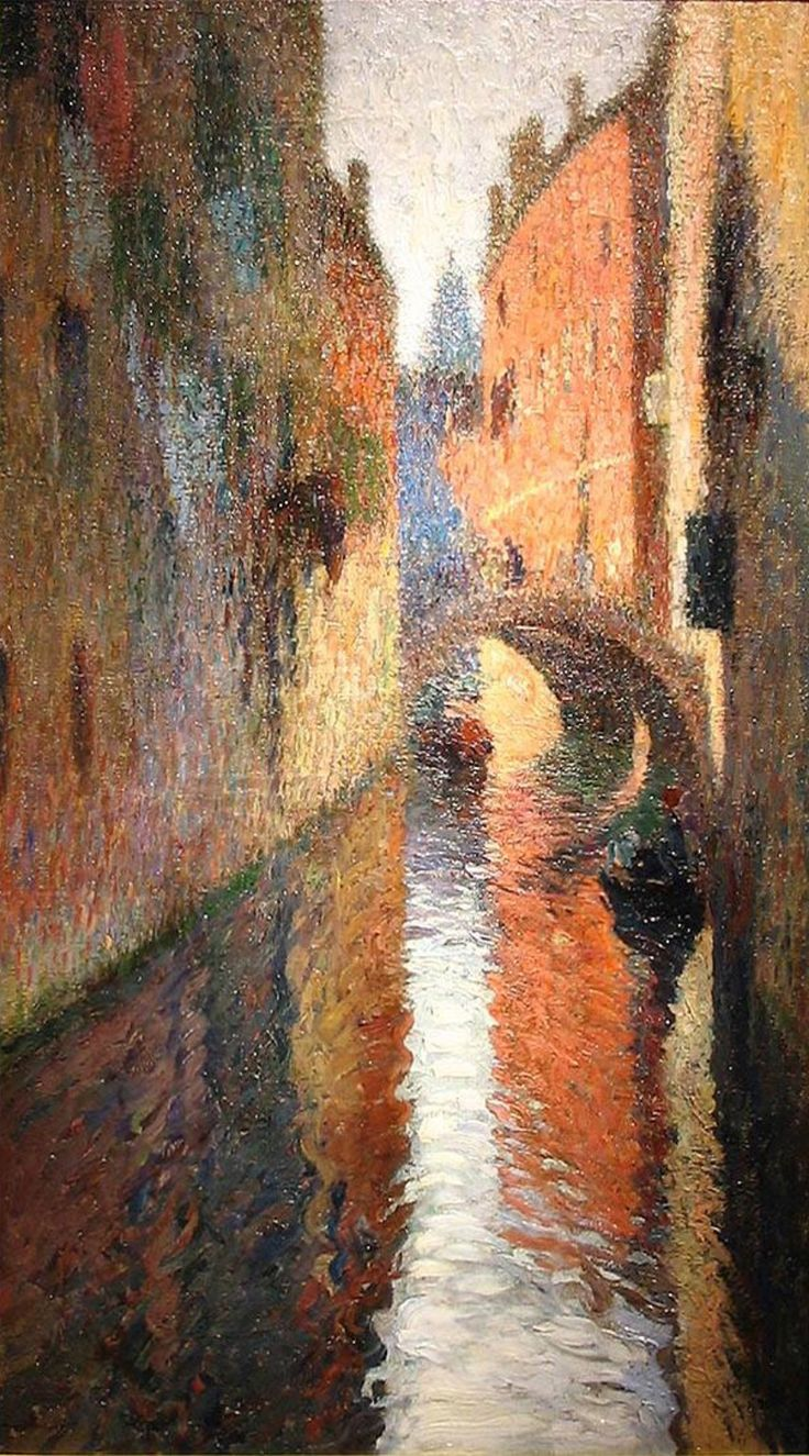 Watercolor artists directory wiki - Landscape Paintings And Photographs Picture Description Canal In Venice Henri Martin Henri Jean Guillaume Martin August 1860 November Was