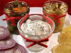 Vegetarisk sill på aubergine. Recpet: http://www.goodstore.se/?p=1389