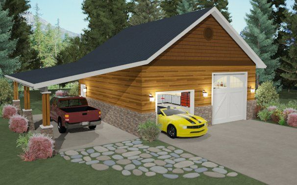 Attached Carports Plans   How to Create a Carport - Chief Architect Software Help