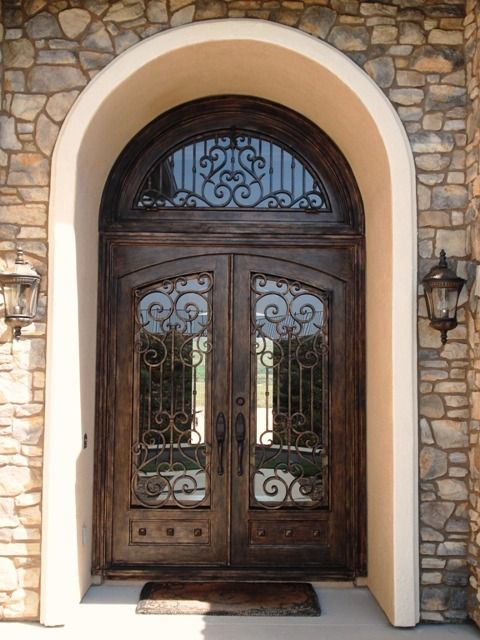 wrought iron square doors with rounded glass | Wrought Iron Door Dallas Texas TX & 114 best Iron Doors images on Pinterest Pezcame.Com