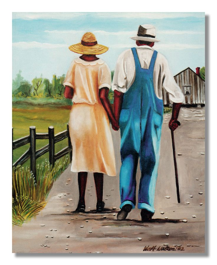 African American Husband Wife Walking