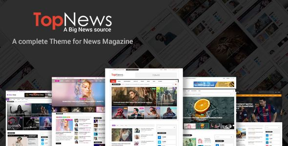 TopNews - News Magazine Newspaper Blog Viral & Buzz WordPress Theme . Top-News is a simple, feature-rich, user friendly, fast-loading, customizable, functional and modern WordPress news, newspaper, magazine, blog, video and publishing WordPress Theme. This theme is fully responsive, fits any size of display from lower to higher resolutions and supports all modern