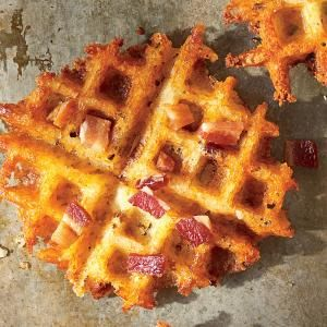 Waffled Bacon Cheddar Grits - Southern Living - entire Family loved this. crock pot grits were so easy. make sure you cook the grits waffle the entire 4 minutes