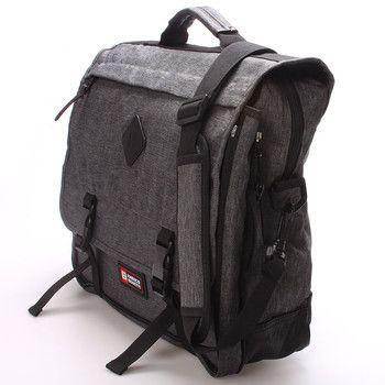 #novinka  Praktická trendová taška Enrico Benetti do práce nebo do školy v šedé barvě. Pod klopou je spousta praktických přihrádek. Objem tašky lze zvětšit rozepnutím zipu po obvodu. Materiál pevný textil.