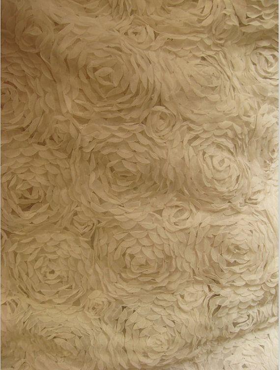 White Big Chiffon Rosette Lace Fabric Photography Prop by LaceFun, $25.99