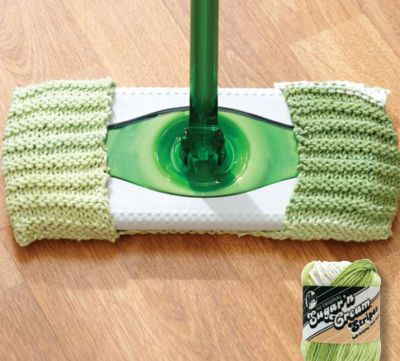 Keep your home green by making your own duster covers! This is a perfect project for a knitting beginner as it is a very short and easy pattern done entirely in stocking stitch.