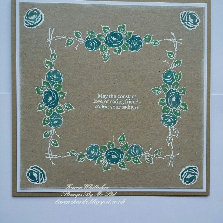 Cherished Memories stamp set by Stamps By Me  #stampsbyme #dtsample #cherishedmemories #flowers #heatembossing #stamps #stamping #card #creative #craft #ilovetocraft #creativity #karenzkardz