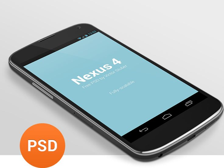 3D Nexus 4 Mockup | Freebie San - Get your design freebies for all your design needs!  #android #mockup #psd #freebies #free