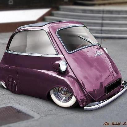 Purple #BMW #Isetta lowered and #custom - as it wasn't close enough to the ground!