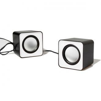 Media-Tech FADO Głośniki stereo USB  FADO MT3140R to zestaw małych stereofonicznych głośników zasilanych z portu USB, wyróżniających się nietuzinkowym wyglądem, które urozmaicą każde wnętrze.  FADO oferują bardzo dobrej jakości brzmienie, dzięki czemu świetnie sprawdzą się zarówno podczas pracy z laptopem jak i komputerem stacjonarnym. Ponadto zestaw można podłączać do przenośnych urządzeń audio, odtwarzaczy MP3, itp.  białe