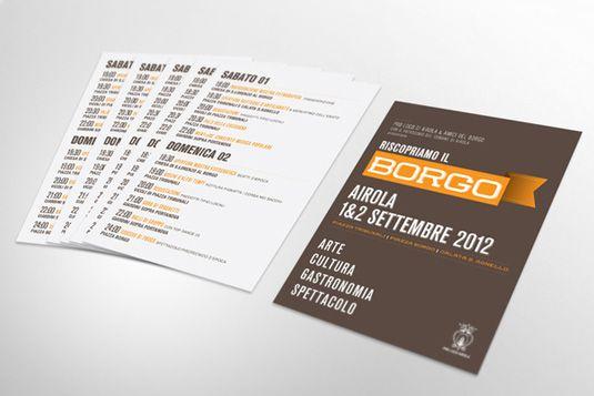 Flyer design Riscopriamo II Borgo