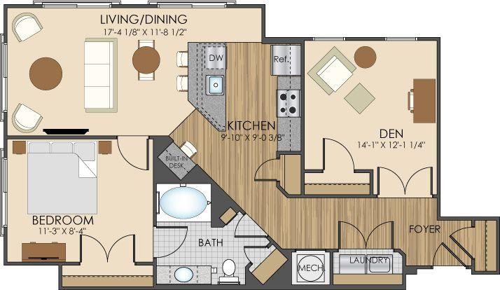 Floor Plans Of Hidden Creek Apartments In Gaithersburg Md 20877 1 Bedroom Floorplans Pinterest