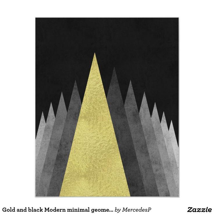 zazzle wedding invitations promo code%0A Gold and black Modern minimal geometric art Poster