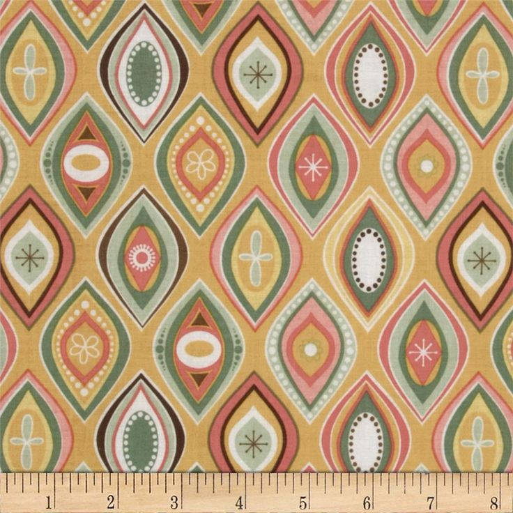 Riley Blake Valencia Geometric Yellow from @fabricdotcom  Designed by Lila Tueller for Riley Blake, this cotton print fabric is perfect for quilting, apparel, crafts, and home decor items. Colors include yellow, green, white, brown, coral, and pink.