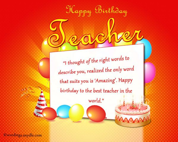 The 25+ best Birthday wishes for teacher ideas on Pinterest - birthday wishes templates word