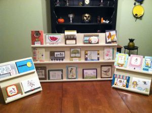 Tutorial / instructions on how to make a handmade greeting card display for craft shows or store front / counter top displays to sell you handmade greeting cards