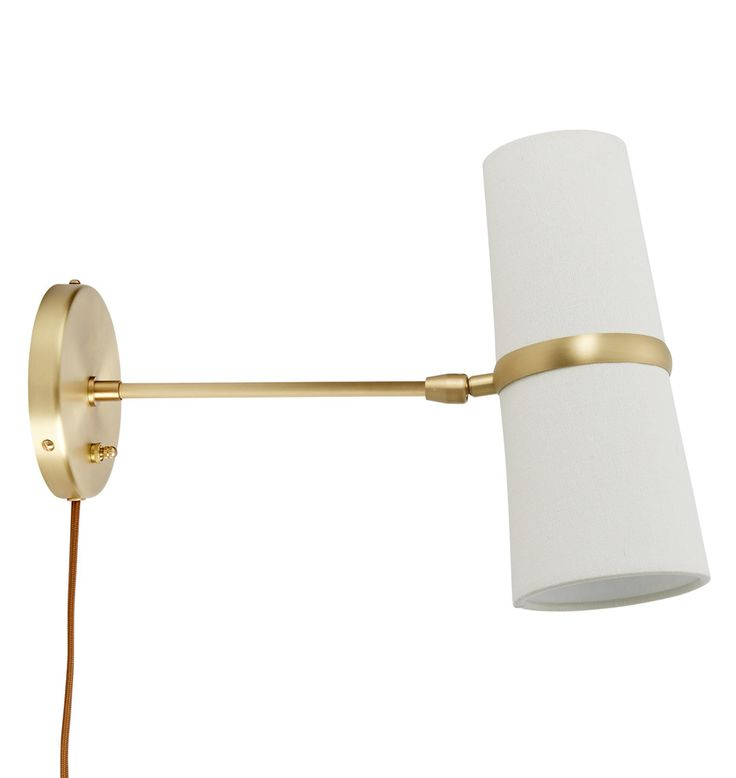 Conifer Medium Plug-In Wall Sconce Brushed Satin Brass